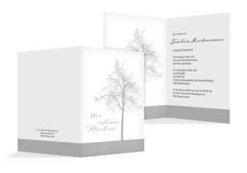 Trauerkarte mit Baum online