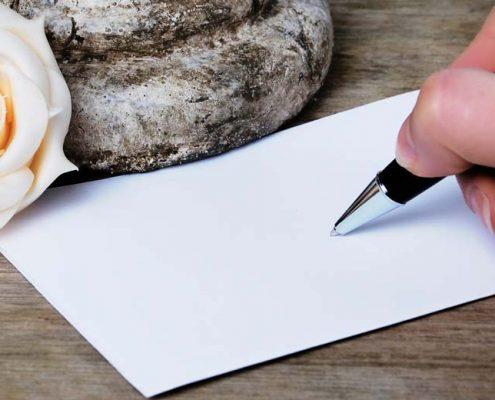 Schreiben einer Karte