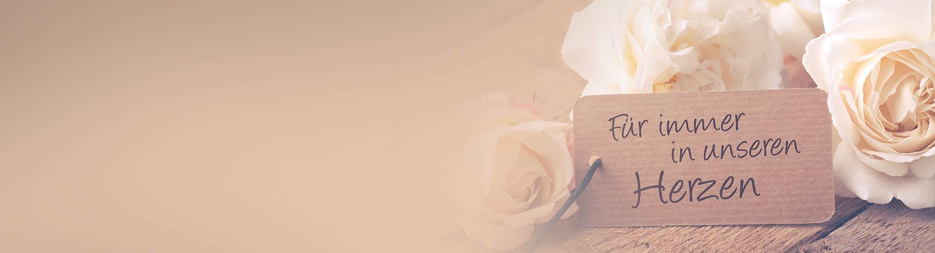 Blumen mit Spruch